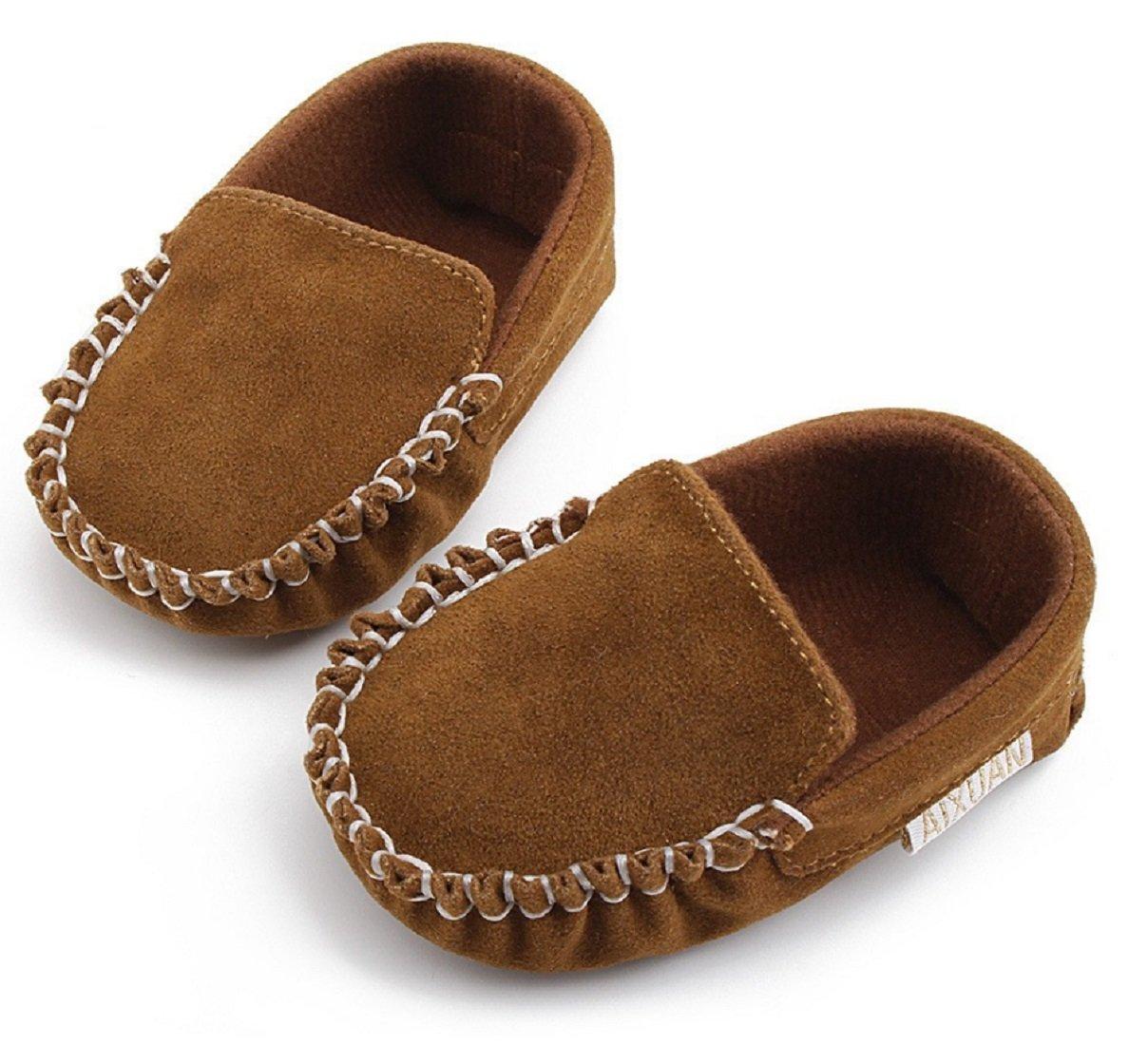 Infant leather Moccasins kids leather shoes boys girls moccs