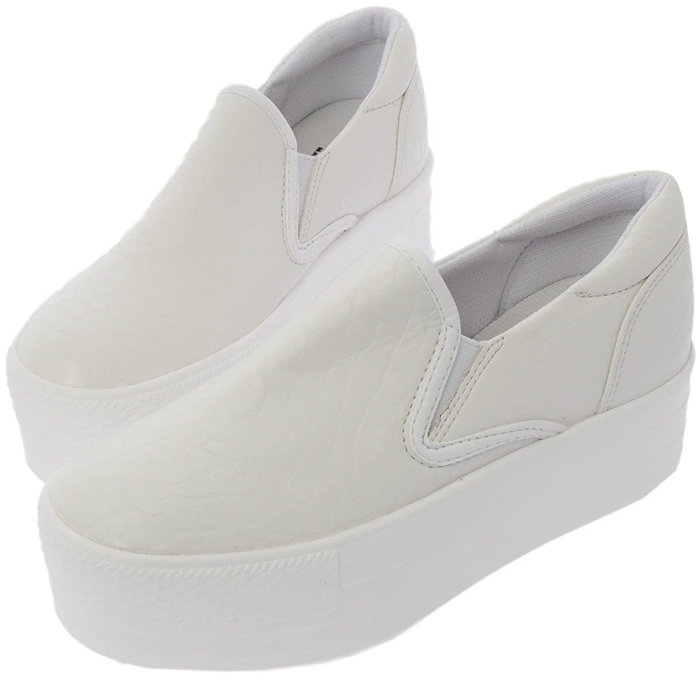 99cb8e9bc8b09 Maxstar C7 50 Synthetic Leather White Platform Slip on Sneakers