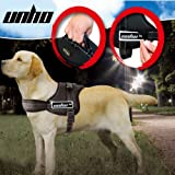 UNHO Soft Padded Dog Harness Adjustable No Pull Large Dog Power Harness - Heavy Duty Big Dogs Assistance Chest from 50-110cm Vary from Size XS-XL (L)