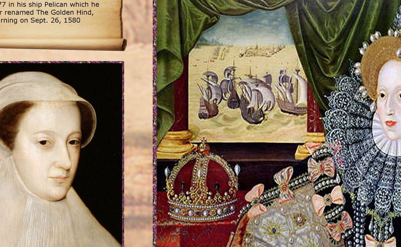 59,4/x 84,1/cm gro/ßes Farbposter in A1-Format mit Queen Elizabeth 1 Informationelles
