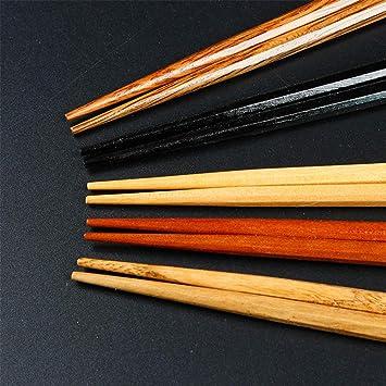 Soldmore7 - Juego de 5 Pares de Palillos japoneses de Madera ...