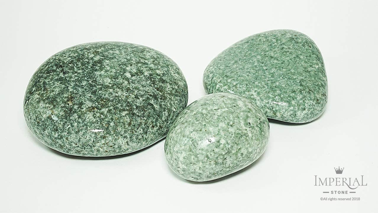Imperial Stone Polished Jade Stone for Sauna and Bath, 20 kg