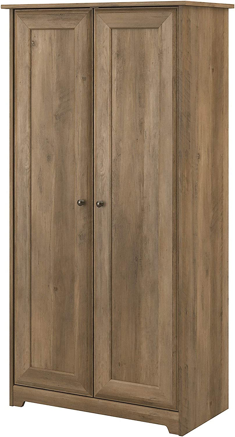 Bush Furniture Cabot 2 Door Tall Storage, Reclaimed Pine