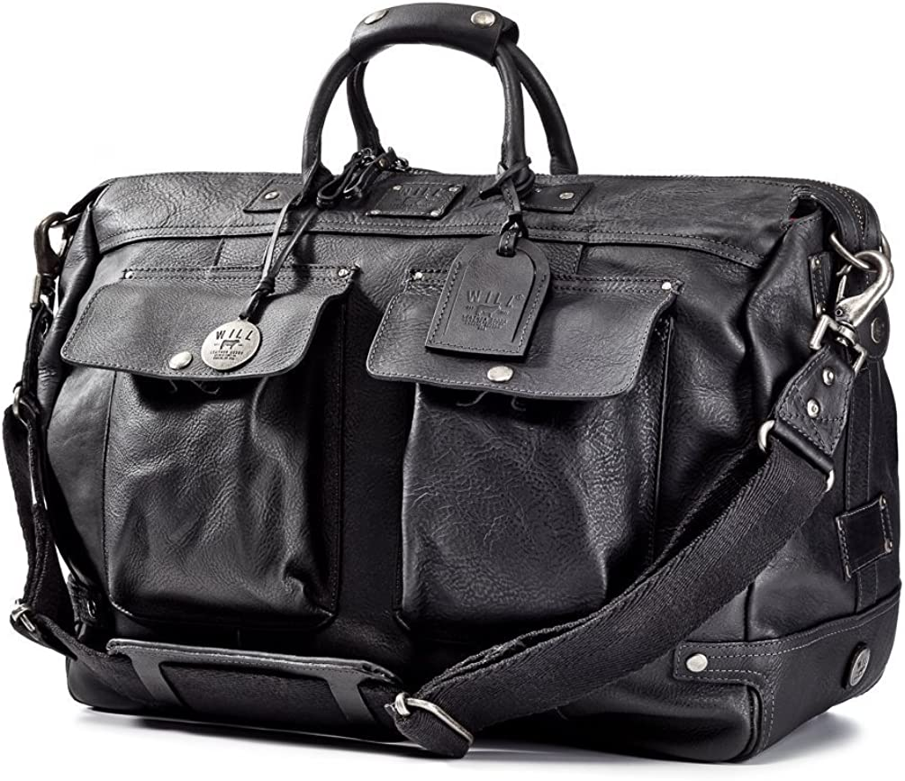 Will Leather Goods Men's Leather Traveler Duffle Bag