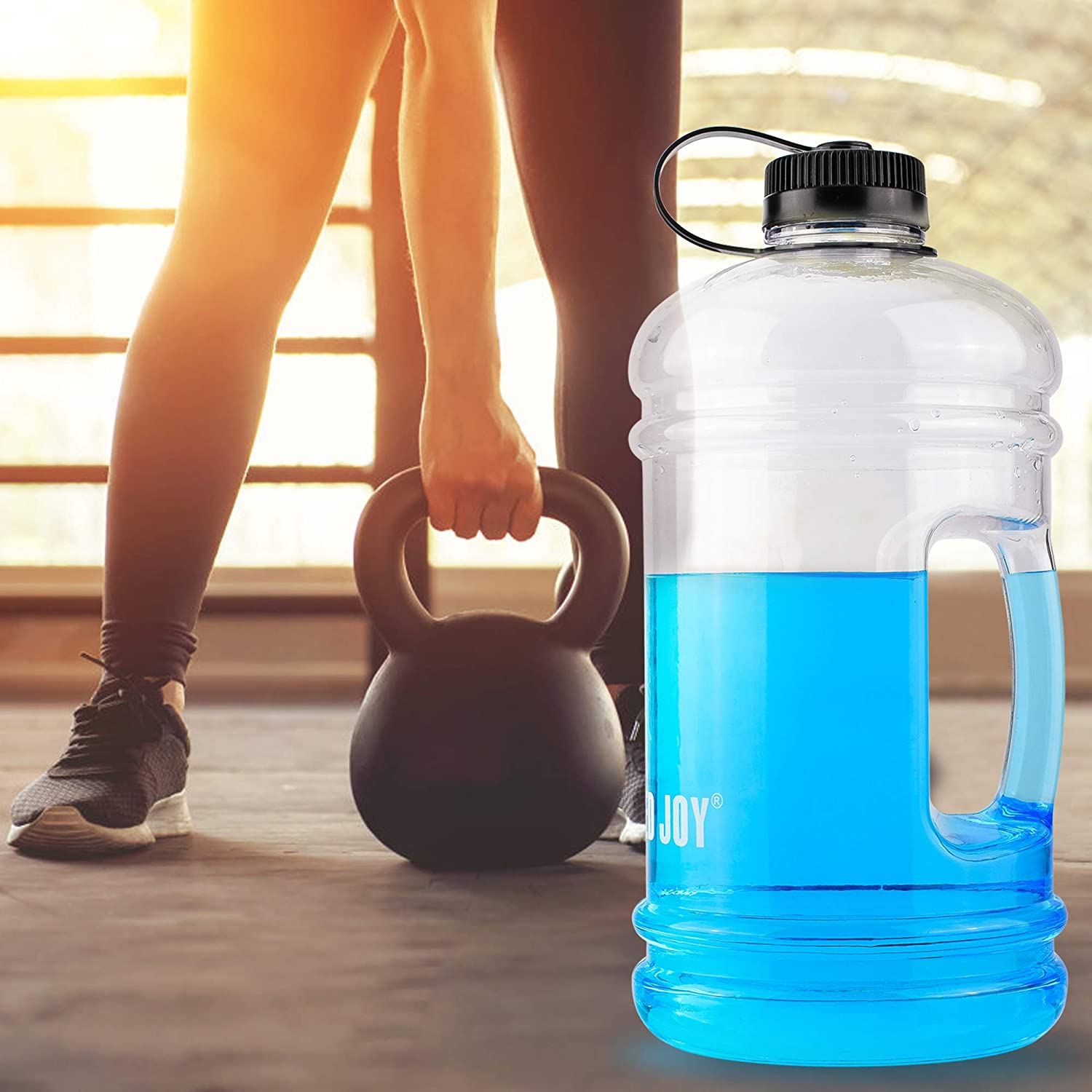 BOTTLEDJOY Large Water Bottle BPA Free Big Sports Water Bottle with Handle Water Jug Container for Outdoor Drinking Water Bottle for Gym Fitness Bodybuilding Sports Bottle with Dust Cap Large Water Bottle with Handle Shenzhen winner Technology Co Ltd.