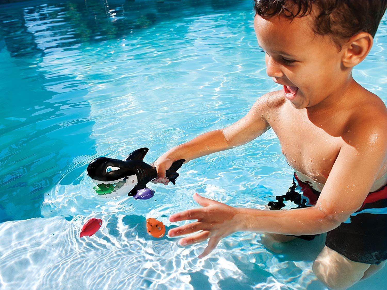 Juguetes para Piscina , Ni/ño//ni/ña, China, 34,3 cm Juguete Individual,, 2 a/ño s Spin Master SwimWays Gobble Gobble Guppies