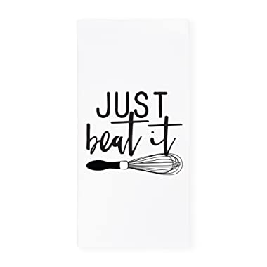 The Cotton & Canvas Co. Just Beat It Soft and Absorbent Kitchen Tea Towel, Flour Sack Towel and Dish Cloth