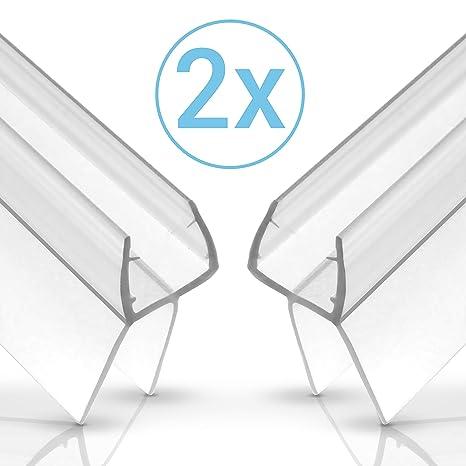 EINFÜHRUNGSANGEBOT - Balder 100cm Universal Duschdichtung [Doppelpack] - Ideale Dichtung für 6mm, 7mm und 8mm Glastür - Langl