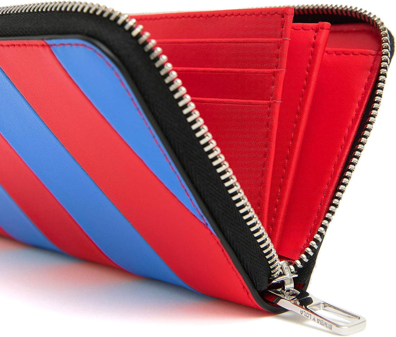 Bimba y Lola 201BBS303 - Cartera de piel, diseño de rayas, color rojo: Amazon.es: Ropa y accesorios
