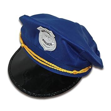 Ousdy Gorro de policía 692093 - Azul  Amazon.es  Juguetes y juegos b77eec726ef