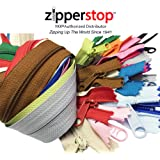 Zipperstop Wholesale YKK® 24 Inches Purse Zippers Extra Long Handbag Pull Assorted Colors 19 Piece Pack YKK® #4.5 Handbag Closed Bottom Crafter's Special - Made in USA Made in USA