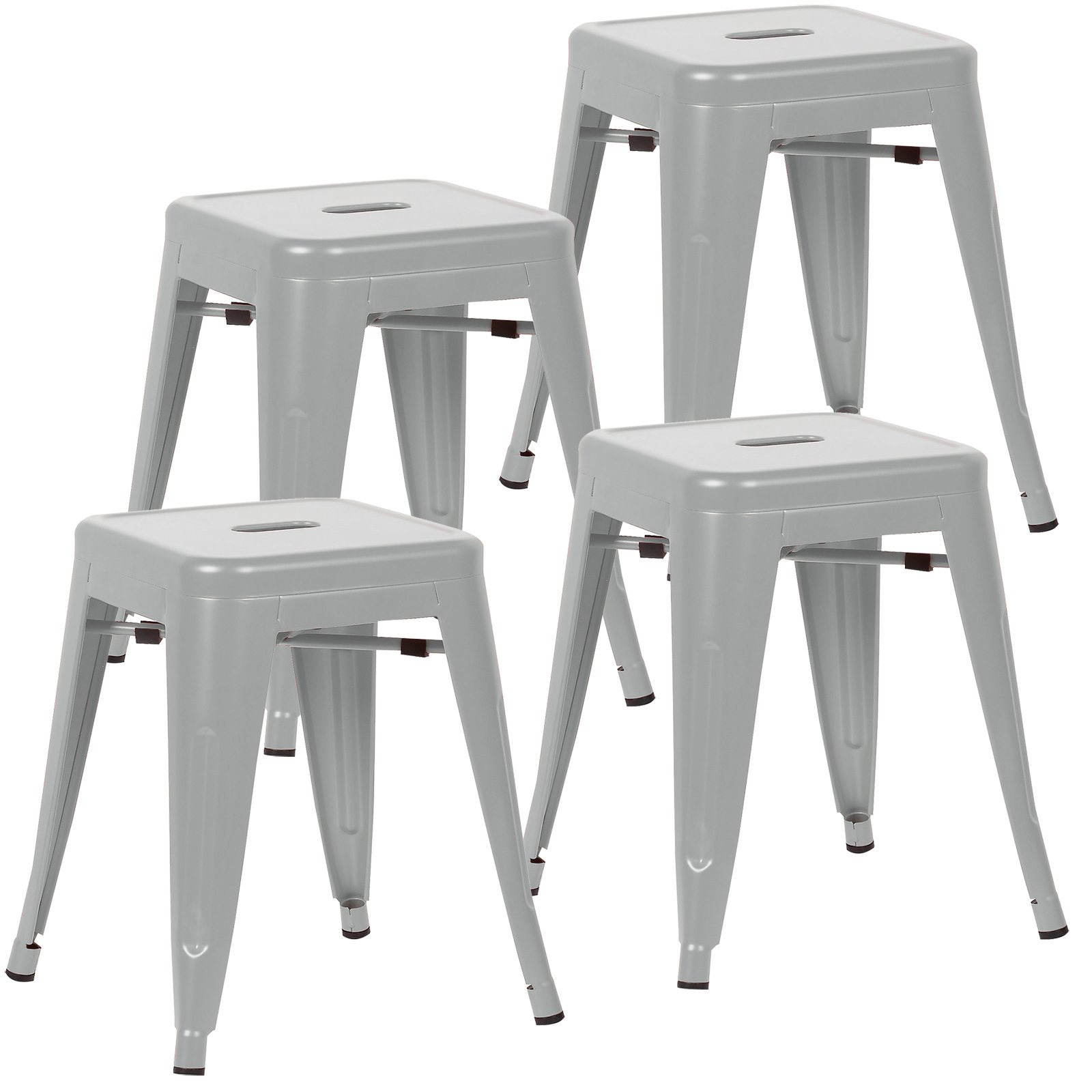 Poly and Bark Trattoria 18'' Stool in Grey (Set of 4)