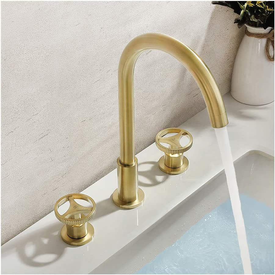 XHJTD Bathroom Sink Washroom Basin Single Lever Chrome Kitchen Sink Faucet Black Wash Basin Hot and Cold Water Mixer Faucet Full Copper Retro Faucet Color : Brass