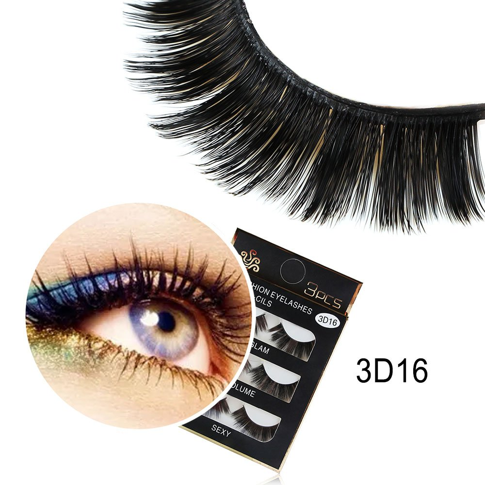 Amazon.com : AprFairy 15 Pairs/5 Pack False Eyelashes Natural 3D Handmade Lashes Professional Makeup Fake Eye Lashes Set, Soft and Comfortable - Group 1 : ...