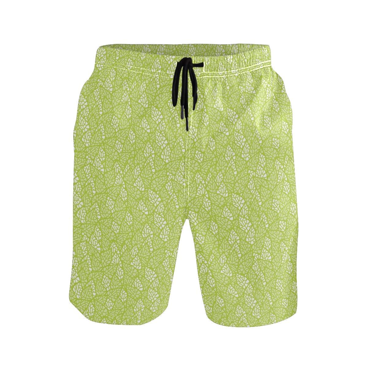 COVASA Mens Summer ShortsAbstract Style Simplistic Oval Shapes Repeating On Tu