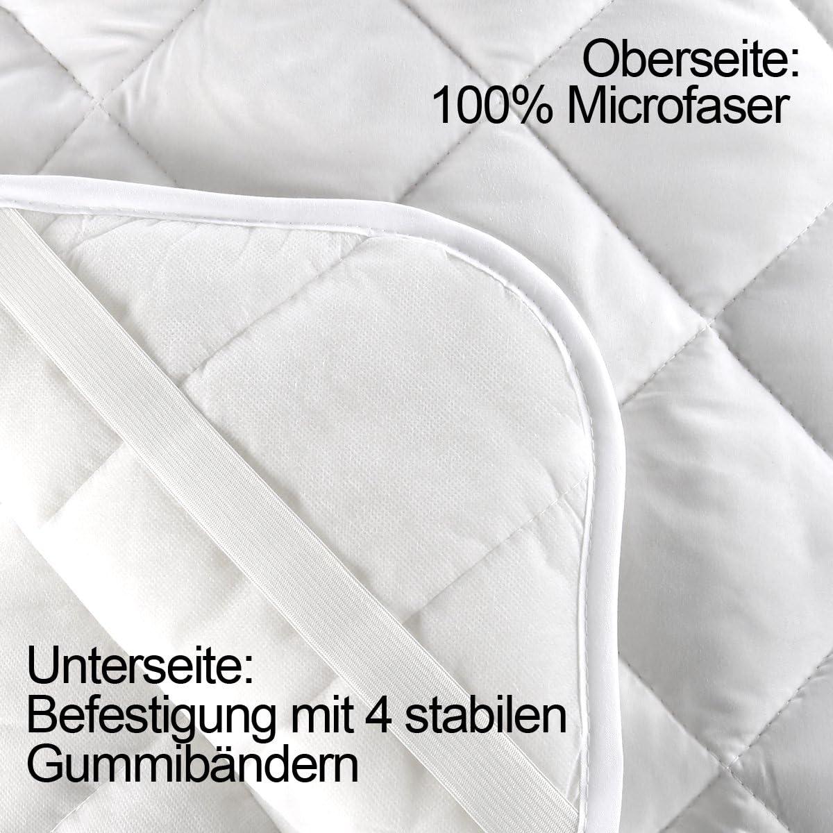 diverse misure coprimaterasso in microfibra anche guarnizione /Öko-Tex 140x200cm Coprimaterasso Gr/äfenstayn/® soft topper con speciale imbottitura in fibra climatica