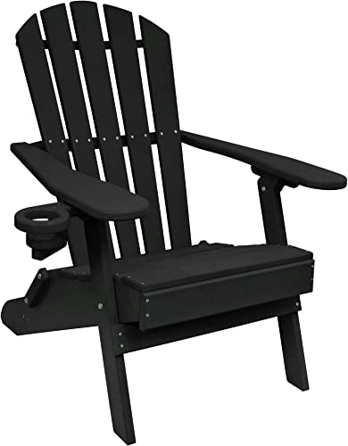 Outer Banks Value Line Poly Lumber Adirondack Chair Black