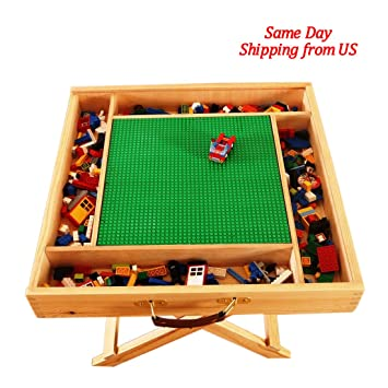 Lego Table With Storage Play Folding Custom Made Wooden Chalkboard Kids  Children BLFT