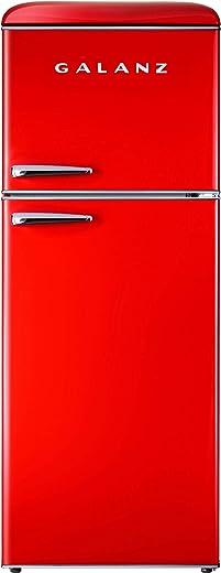 Galanz GLR10TRDEFR Retro Refrigerator, 10.0 Cu Ft, Red