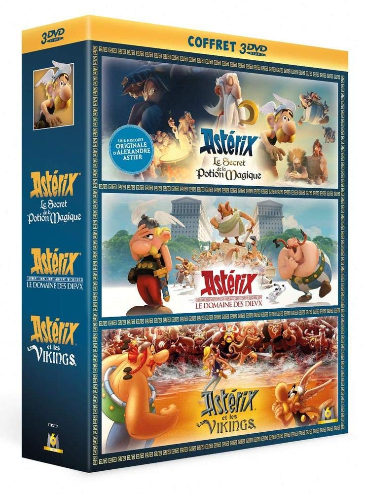 Astérix - Le Secret de la Potion Magique + Le Domaine des Dieux + Astérix et les Vikings Francia DVD: Amazon.es: Louis Clichy, Alexandre Astier, Stefan Fjeldmark, Jesper Møller: Cine y Series TV