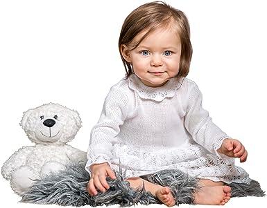 BIMARO Baby Mädchen Taufkleid Ruby Babykleid weiß Kleid