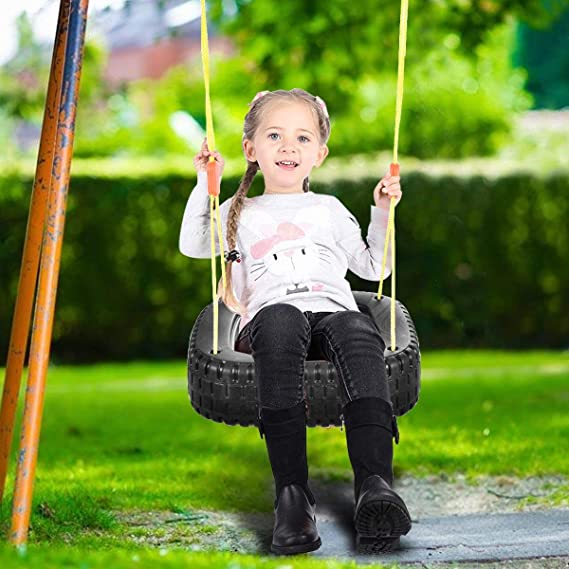 ReunionG Kids Tire Swing for 2 Kids Tree Swing Play Set