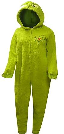 4d3cca23c4d1 Dr. Suess Grinch Women's Plus Licensed Sleepwear Adult Costume Union Suit  ...