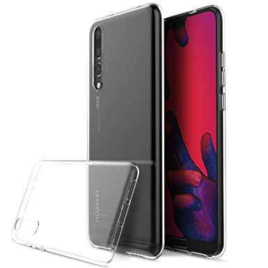 huge selection of ee242 0c7a7 Huawei P20 Case, Huawei P20 Clear Case, [Slim Fusion, Silicone, Gel Case]  [Transparent, Shock Absorption] [Compatible With Huawei P20 Screen  Protector ...