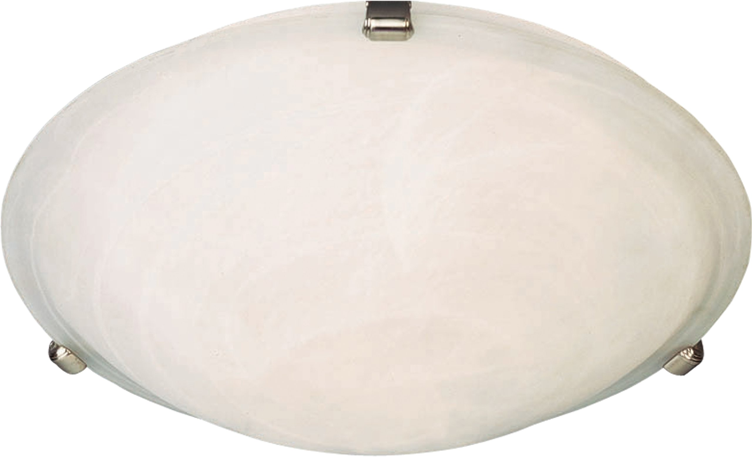 Maxim 82681MRSN Malaga EE 3-Light Flush Mount, Satin Nickel Finish, Marble Glass, GU24 Fluorescent Fluorescent Bulb , 18W Max., Wet Safety Rating, 2700K Color Temp, Glass Shade Material, 1355 Rated Lumens
