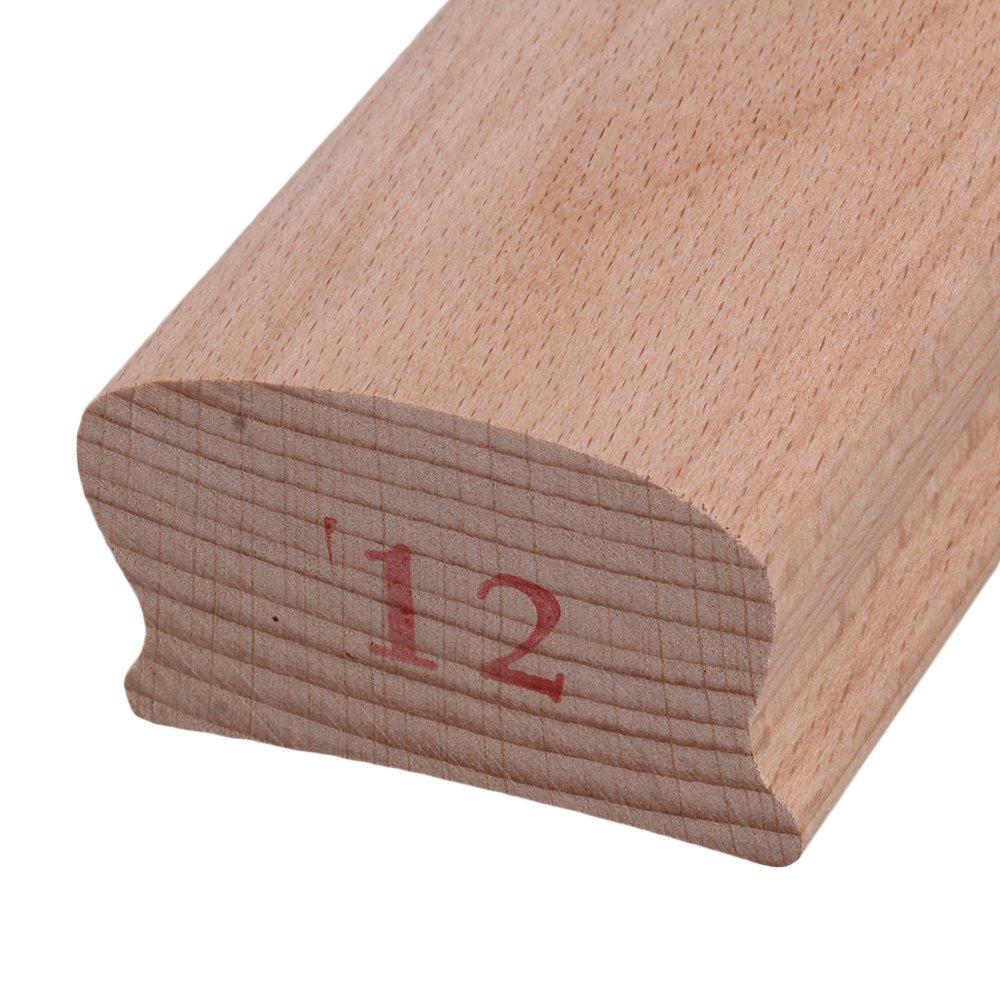 Yibuy 14# Wood Radius Sanding Blocks for Guitar Bass Fret Leveling Fingerboard Luthier Tool