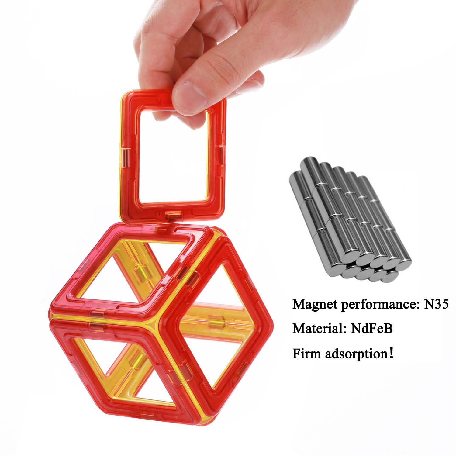 Magnetic Toys For Boys : Quadpro piece magnetic blocks building toys for boys