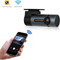 Auto-Vox D6 Pro 1080p WiFi Dashcam with 300 Rotatable Lens and Looping Recording for Cars
