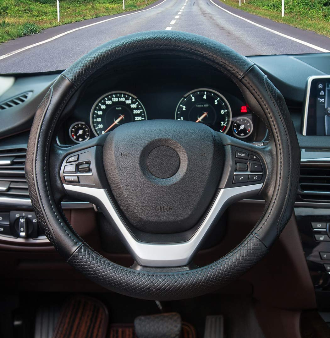 b43bc3a2b7ff 30% discount on Super Accessories Auto Steering Wheel Cover Leather ...
