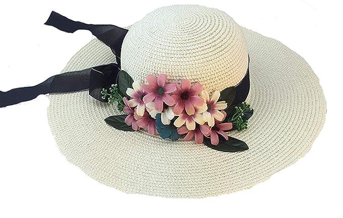 Moda Sombrero para El Sol Verano Sombrero De Paja para Basic Mujer Sombrero  De  Amazon.es  Ropa y accesorios 867992b6673