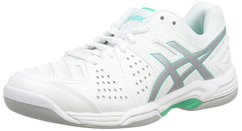 Asics Gel-Dedicate 4 Indoor, Damen Tennisschuhe, Weiß (White/Silver/Mint  0193), 44 EU: Amazon.de: Schuhe & Handtaschen