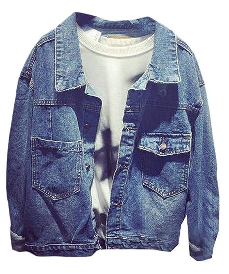beautiful and charming amazing quality online sale Yayu Women's Classic Boyfriend Long Sleeve Denim Jacket Slim ...