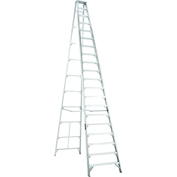 Louisville Ladder AS1020 300-Pound Duty Rating Aluminum Stepladder ...
