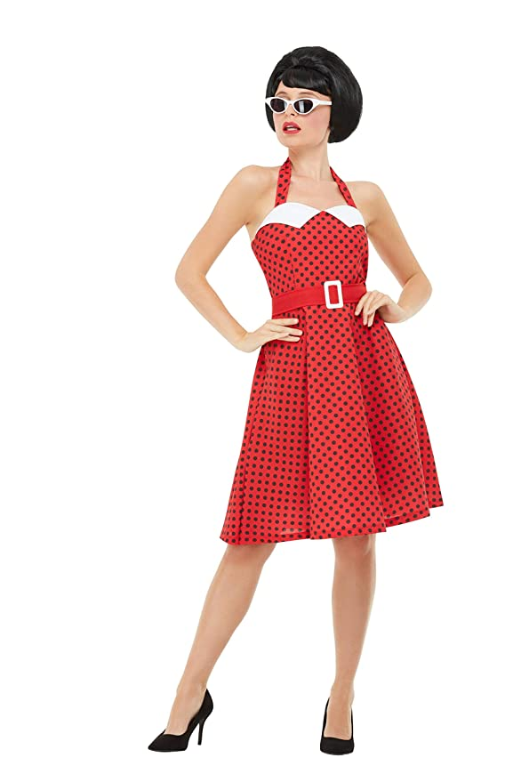 1950s Costumes- Poodle Skirts, Grease, Monroe, Pin Up, I Love Lucy Smiffys 50s Pin Up Costume Women $37.25 AT vintagedancer.com