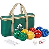 ApudArmis Bocce Balls Set, Outdoor Family Bocce Game for Backyard/Lawn/Beach - Set of 8 Poly-Resin Balls & 1 Pallino…