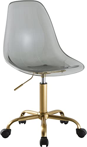 Urban Shop Acrylic Rolling Chair, Black