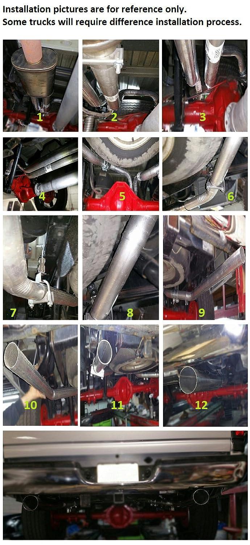 Dual Exhaust Conversion Kit Fits 2001-2006 Silverado//Sierra 1500//2500