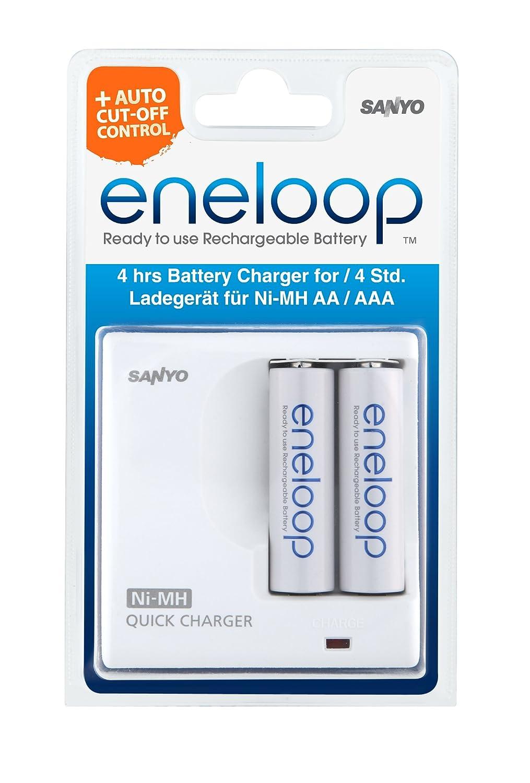 Sanyo MDR02 eneloop - Cargador + 2 pilas AA: Amazon.es ...
