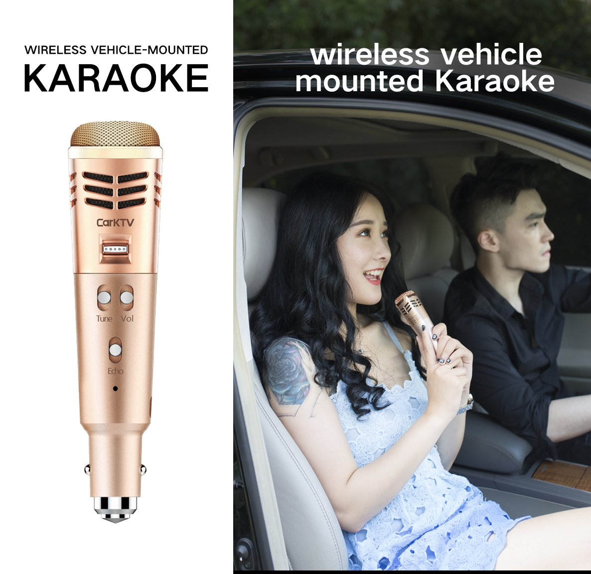 Wireless FM Bluetooth Karaoke Microphone,3-in-1 Portable Handheld karaoke Mic Home Party birthday Machine for iPhone/Android/iPad/Sony,and All Smartphone connect with cars