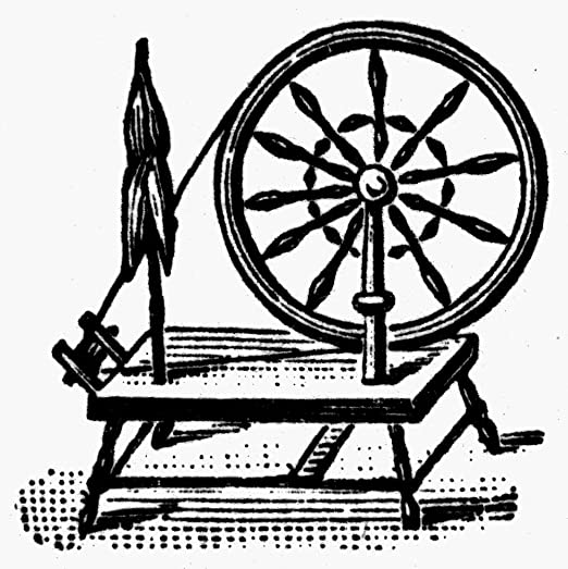 The Poster Corp Textiles: Spinning Wheel. /Nwood Engraving ...
