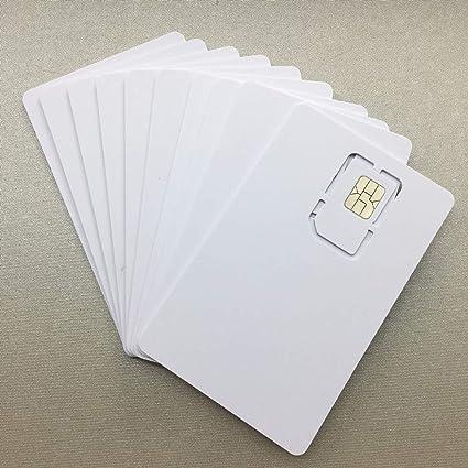 Amazon.com: XCRFID - Tarjeta de memoria SIM en blanco ...