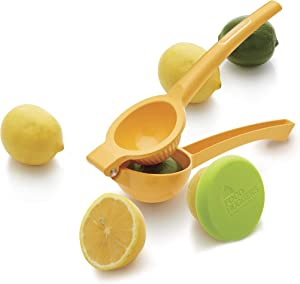 Farberware Healthy Eating Set (Citrus Squeezer, Small Food Hugger), 3-Piece, Yellow