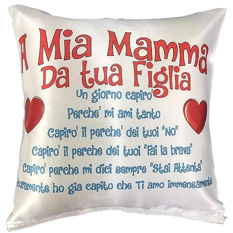 BrolloGroup - Cojín para el Día de la Madre I Love My Mom A ...