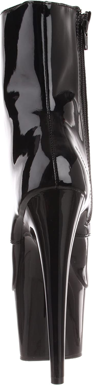 Pleaser ADORE-1020, Damen Halbschaft Stiefel Schwarz Blk Pat Blk