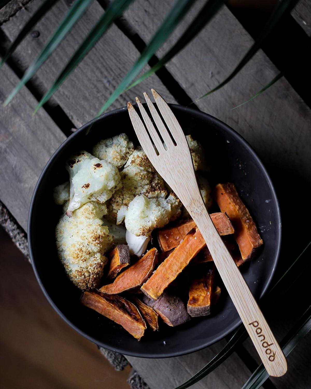 aptos para lavavajillas y apilables aptos para alimentos para p/ícnic y camping Pandoo para el uso diario Juego de 6 cuencos de bamb/ú sin BPA