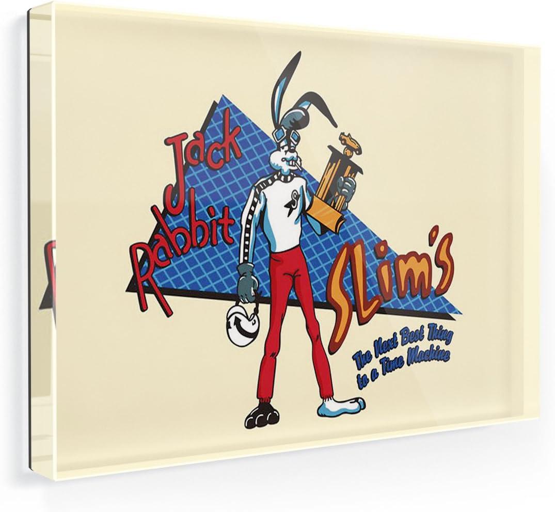Kühlschrankmagnet Jack rabbit verschlanken, Pulp Fiction twist contest, Neonblond